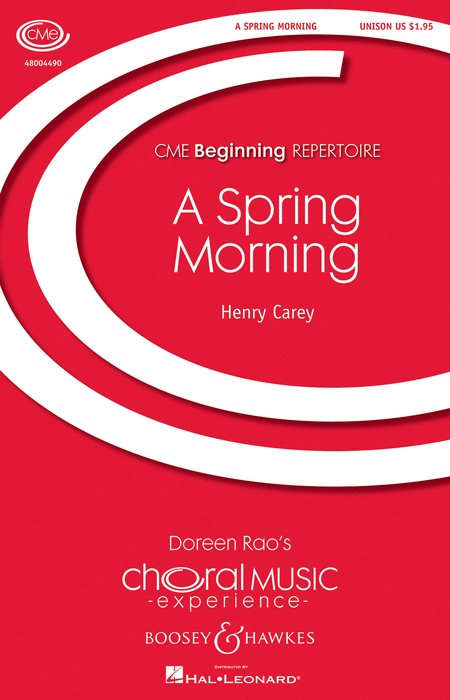 A Spring Morning : Unison : Henry Carey : Sheet Music : 48004490 : 073999858853