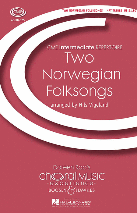 Two Norwegian Folksongs : SSAA : Nils Vigeland : Sheet Music : 48004525 : 073999231632