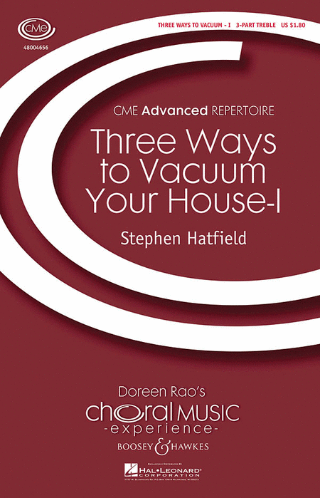 Three Ways To Vacuum Your House - Part I : SSA : Stephen Hatfield : Sheet Music : 48004656 : 073999735017