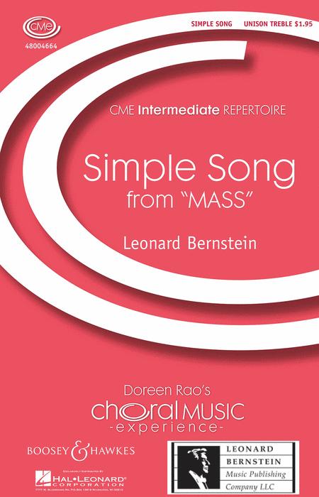 Simple Song : Unison : Leonard Bernstein : Leonard Bernstein : Sheet Music : 48004664 : 073999224627