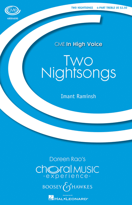 Two Nightsongs : SSAA : Imant Raminsh : Sheet Music : 48004690 : 073999586657