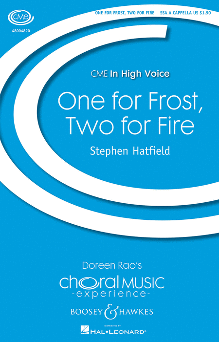One For Frost, Two For Fire : SSA : Stephen Hatfield : Sheet Music : 48004820 : 073999794717