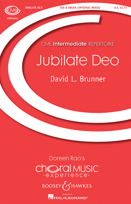 Jubilate Deo : SSA : David L. Brunner : David L. Brunner : Sheet Music : 48004849 : 073999048490