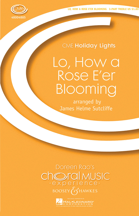 Lo, How a Rose E'er Blooming : SSA : James Helme Sutcliffe : Sheet Music : 48004885 : 073999738155