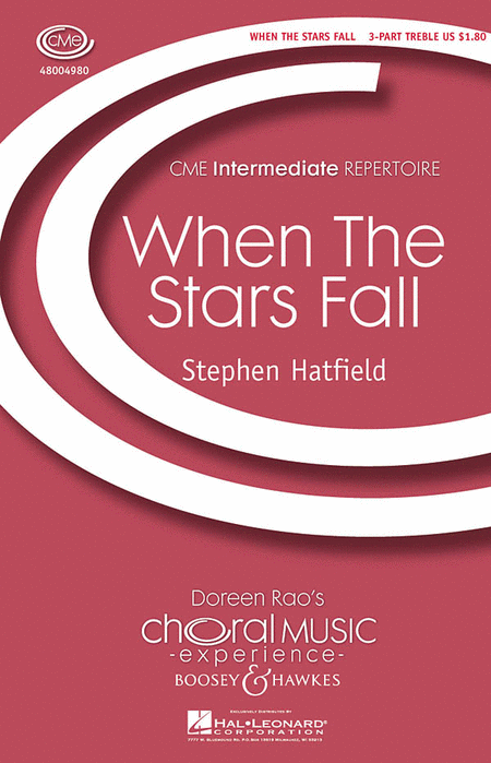 When the Stars Fall : SSA : Stephen Hatfield : Sheet Music : 48004980 : 073999286816
