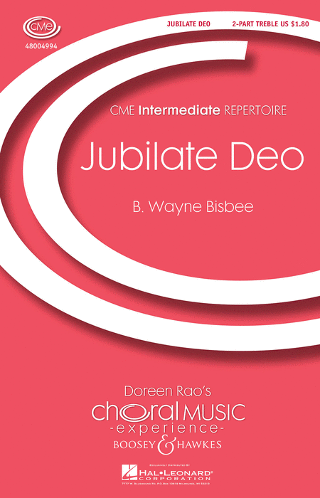 Jubilate Deo : 2-Part : B. Wayne Bisbee : B. Wayne Bisbee : Sheet Music : 48004994 : 073999049947