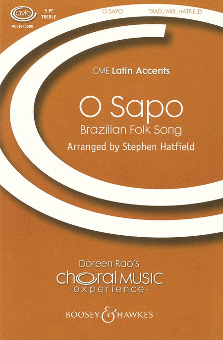 O Sapo : SSATB : Stephen Hatfield : Sheet Music : 48005032 : 073999669398