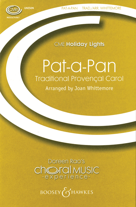 Pat-a-Pan : Unison : Joan Whittemore : Sheet Music : 48005162 : 073999529524