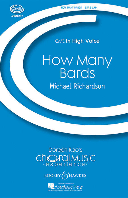 How Many Bards : SSA : Michael Richardson : Sheet Music : 48018787 : 073999936926