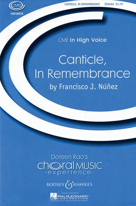 Canticle, In Remembrance : SSA : Francisco J. Nunez : Sheet Music : 48018828 : 073999223484