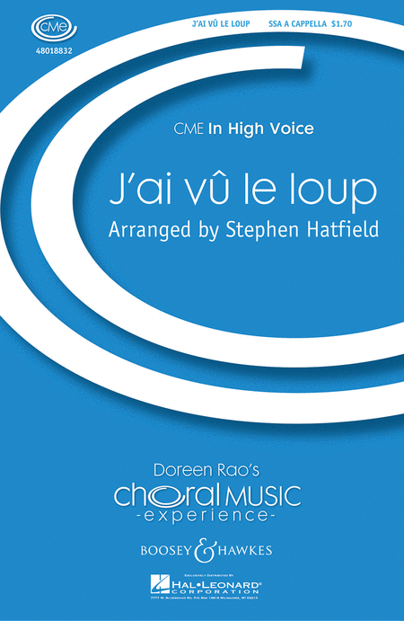 J'ai Cu Le Loup : SSA : Stephen Hatfield : Sheet Music : 48018832 : 073999539967