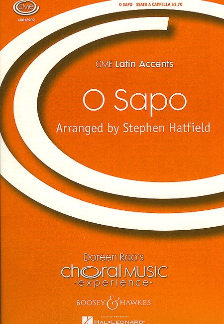 O Sapo : SSATB : Stephen Hatfield : Sheet Music : 48018902 : 073999364538