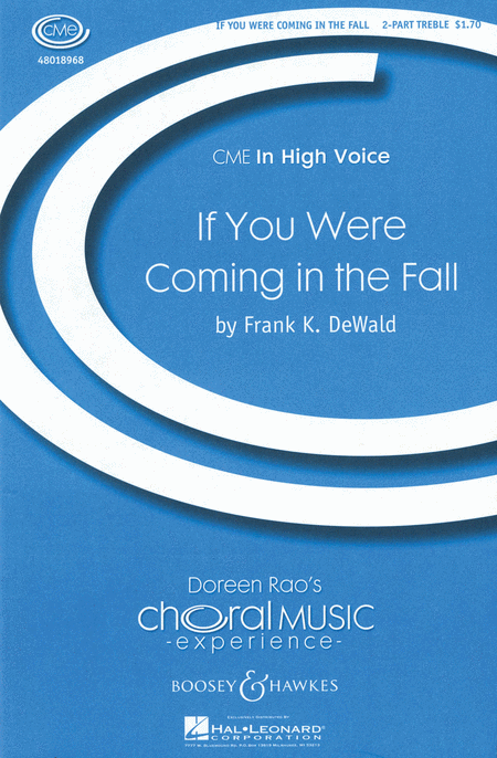 If You Were Coming in the Fall : SA : Frank K. DeWald : Sheet Music : 48018968 : 073999716269