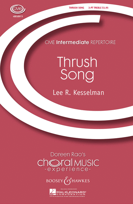 Thrush Song : SSA : Lee Kesselman : Lee Kesselman : Sheet Music : 48018973 : 073999189735