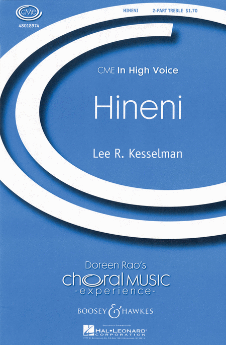Hineni : 2-Part : Lee Kesselman : Sheet Music : 48018974 : 073999240832