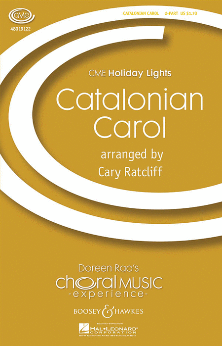 Catalonian Carol : SA : Cary Ratcliff : Sheet Music : 48019122 : 884088040093