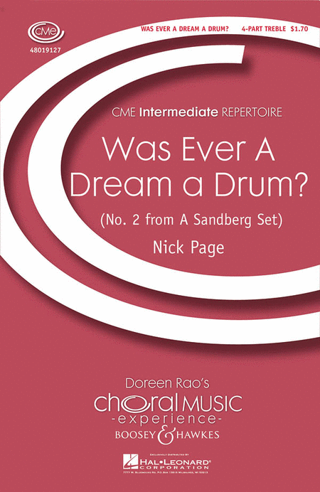 Was Ever a Dream a Drum? : SSA : Nick Page : Nick Page : 48019127 : 884088053338