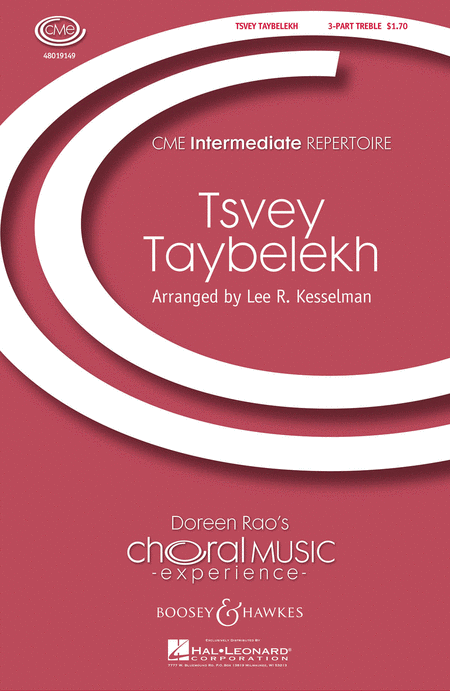 Tsvey Taybelekh (The Two Doves) : SSA : Lee Kesselman : Sheet Music : 48019149 : 884088063078