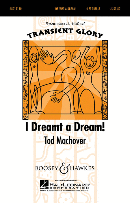 I Dreamt A Dream : SSAA : Tod Machover : Tod Machover : Sheet Music : 48019150 : 884088063085