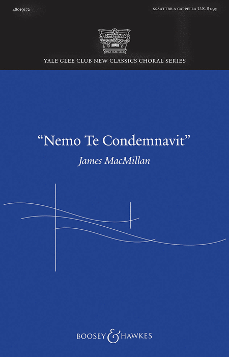 Nemo te condemnavit : SATB : James MacMillan : Sheet Music : 48019172 : 884088074340