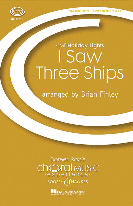 I Saw Three Ships : 3 Part Treble : Brian Finley : Sheet Music : 48019318 : 884088110208