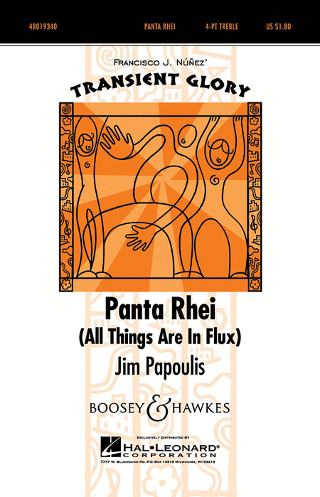 Panta Rhei (All Things Are in Flux) : SSAA : Jim Papoulis : Sheet Music : 48019340 : 884088113520