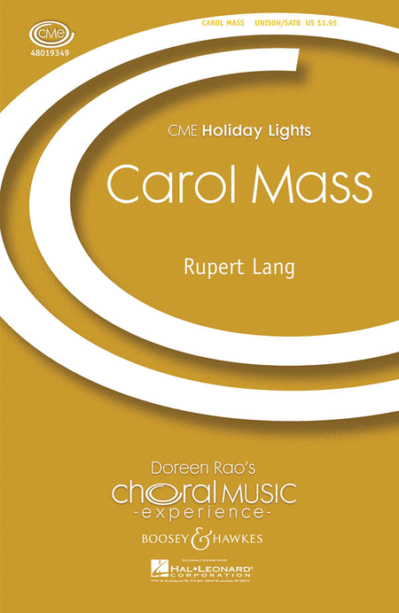 Carol Mass : SATB : Rupert Lang : Sheet Music : 48019349 : 884088115111