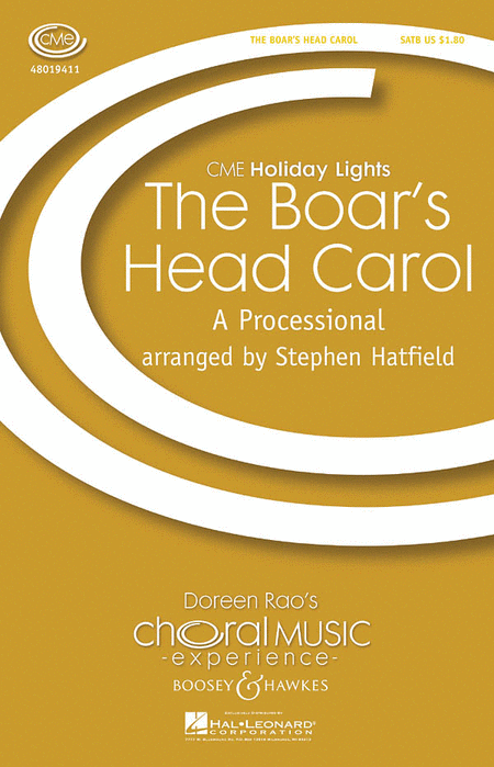 The Boar's Head Carol : SATB : Stephen Hatfield : Sheet Music : 48019411 : 884088133702
