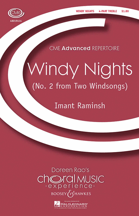 Windy Nights : SSAA : Imant Raminsh : Imant Raminsh : Sheet Music : 48019414 : 884088133955