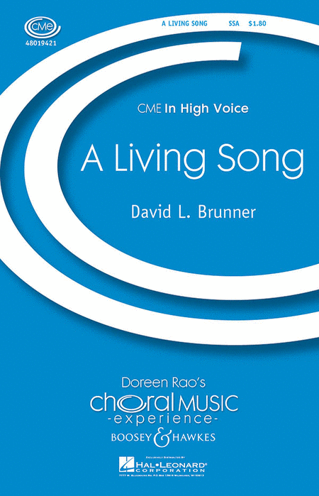 A Living Song : SSA : David L. Brunner : Sheet Music : 48019421 : 884088135911