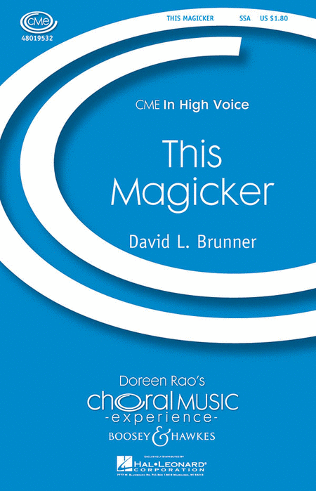 This Magicker : SSA : David L. Brunner : Sheet Music : 48019532 : 884088158019