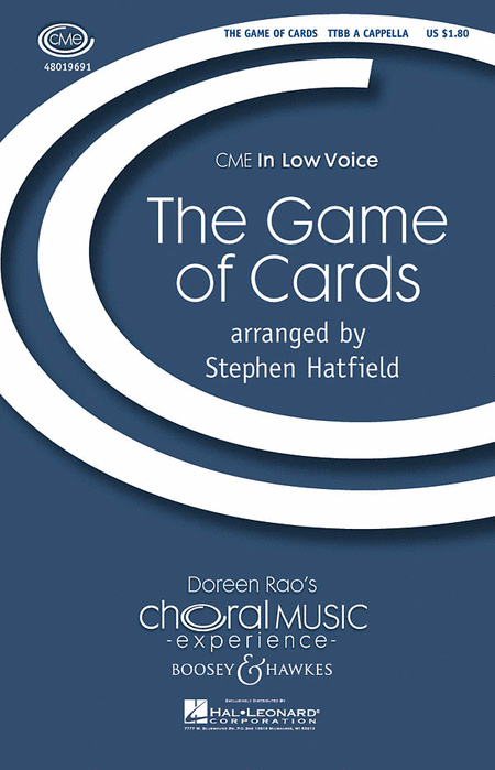 The Game of Cards : TTBB : Stephen Hatfield : Sheet Music : 48019691 : 884088208936