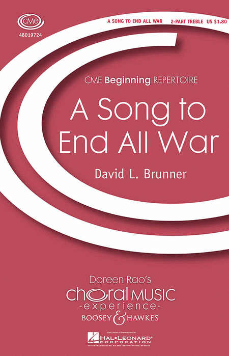 A Song to End All War : 2-Part : David Brunner : David Brunner : Sheet Music : 48019724 : 884088220617