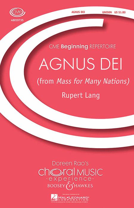 Agnus Dei : Unison : Rupert Lang : Sheet Music : 48019735 : 884088223922