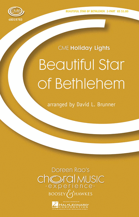 Beautiful Star of Bethlehem : 2-Part : David L. Brunner : Sheet Music : 48019783 : 884088245481