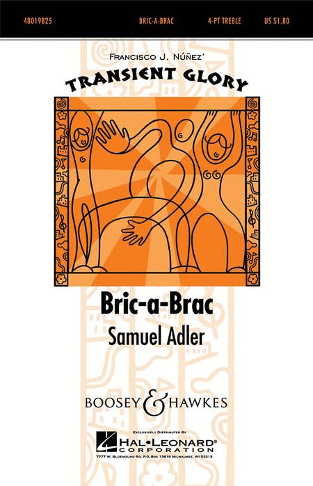 Bric-a-Brac : SSAA : Samuel Adler : Samuel Adler : Sheet Music : 48019825 : 884088262389