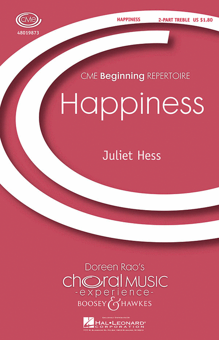 Happiness : 2-Part : Juliet Hess : Sheet Music : 48019873 : 884088273743