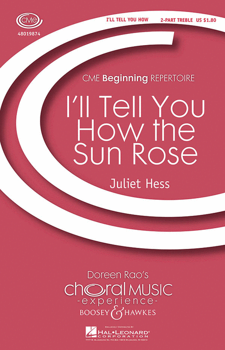 I'll Tell You How the Sun Rose : 2-Part : Juliet Hess : Sheet Music : 48019874 : 884088273767