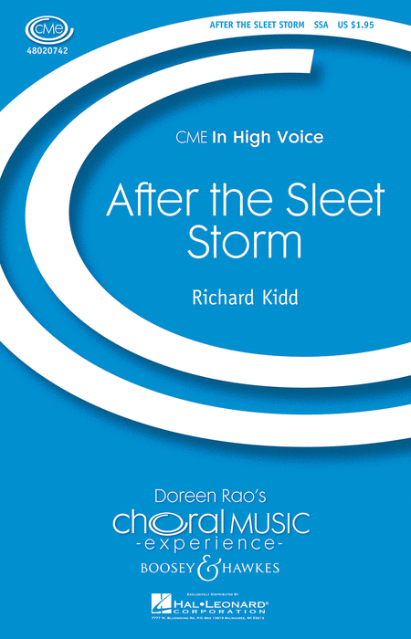 After the Sleet Storm : SSA : Richard Kidd : Sheet Music : 48020742 : 884088432591