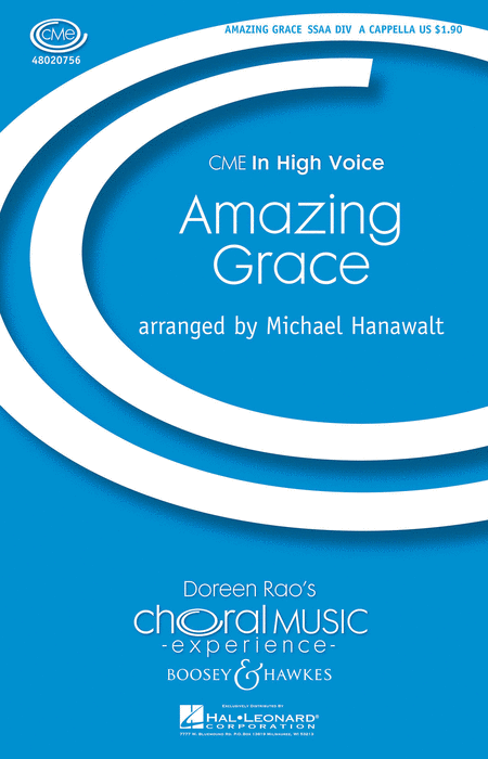Amazing Grace : SSAA divisi : Michael Hanawalt : John Newton : Sheet Music : 48020756 : 884088450052