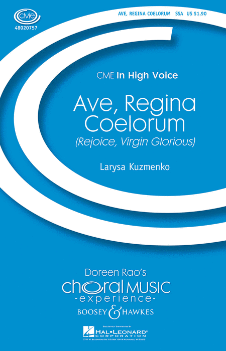 Ave, Regina Coelorum : SSA : Larys Kuzmenko : Sheet Music : 48020757 : 884088452223