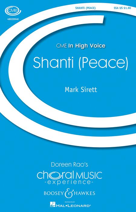 Shanti (Peace) : SSA : Mark Sirett : Sheet Music : 48020946 : 884088531317
