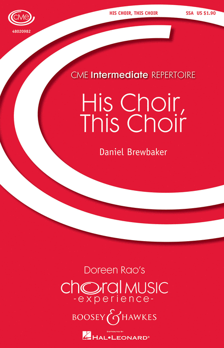 His Choir, This Choir : SSA : Daniel Brewbaker : Daniel Brewbaker : Sheet Music : 48020982 : 884088545598