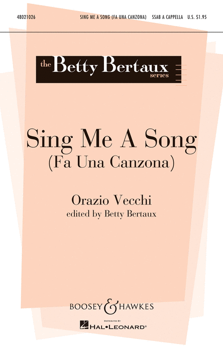 Sing Me a Song : SSAB : Betty Bertaux : Sheet Music : 48021026 : 884088561321