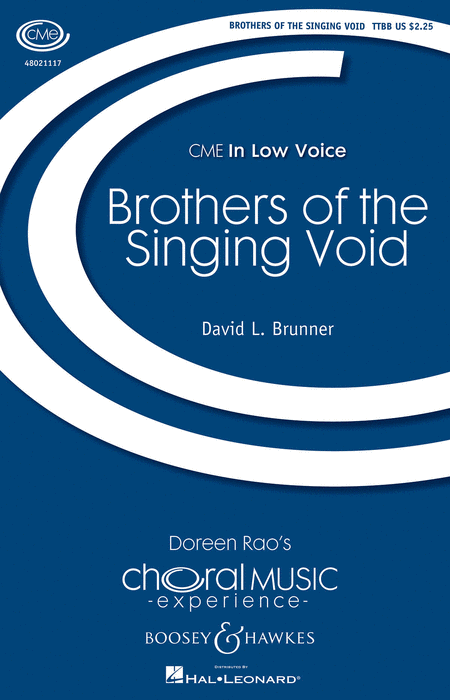 Brothers of the Singing Void : TTBB : David L. Brunner : David L. Brunner : Sheet Music : 48021117 : 884088590307