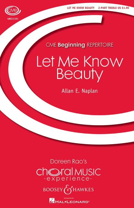 Let Me Know Beauty : SA : Allan E. Naplan : Sheet Music : 48021161 : 884088606299