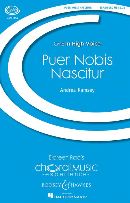 Puer Nobis Nascitur : SSAA divisi : Andrea Ramsey : Sheet Music : 48021250 : 884088652036