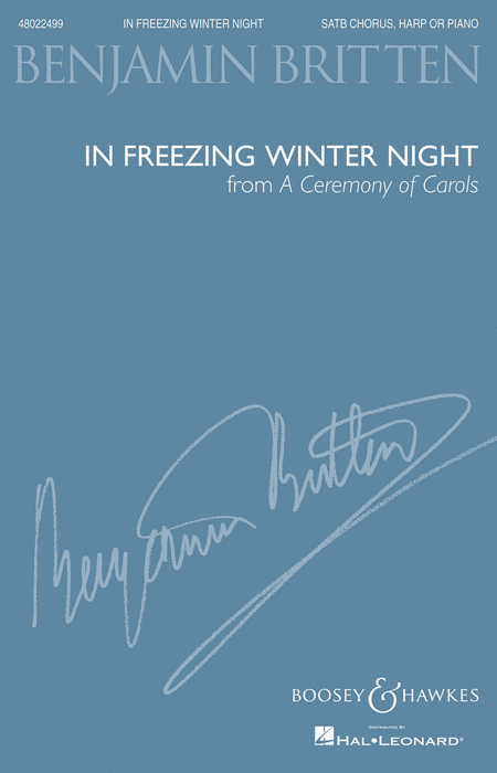 In Freezing Winter Night : SATB : Benjamin Britten : Benjamin Britten : Sheet Music : 48022499 : 884088669720 : 1476871531