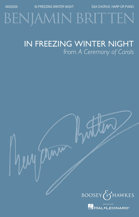 In Freezing Winter Night (from A Ceremony of Carols) : SSA : Benjamin Britten : Benjamin Britten : Sheet Music : 48022500 : 884088669737 : 1480309257