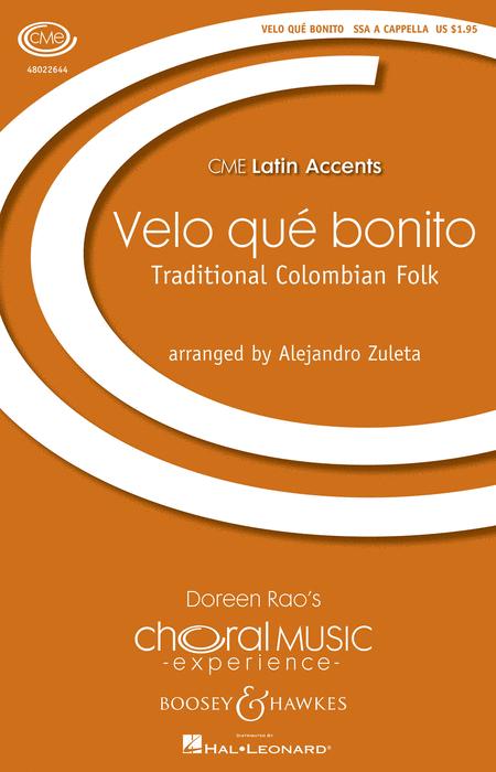 Velo que bonito : SSA : Alejandro Zuleta : Sheet Music : 48022644 : 884088867607